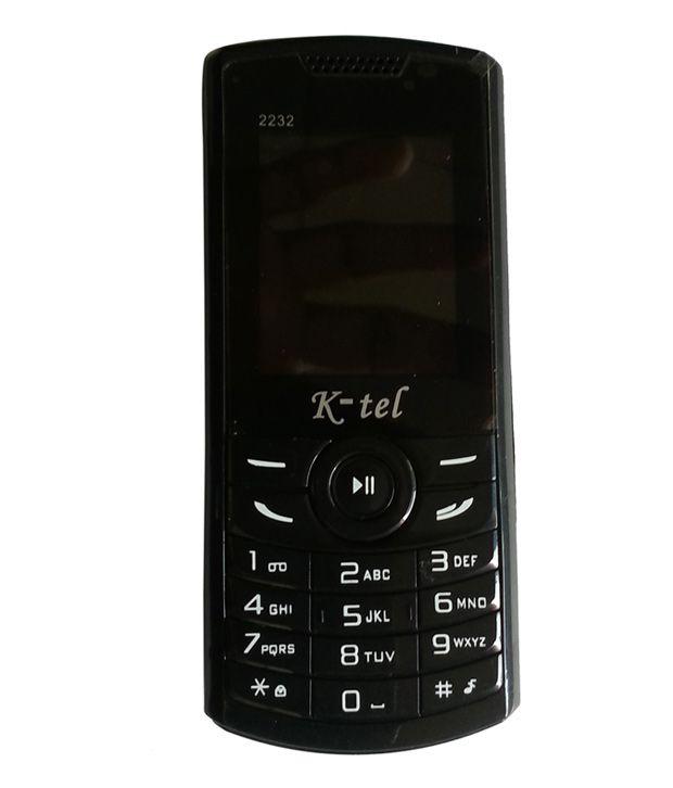 K-tel Black Dual Sim Mobile