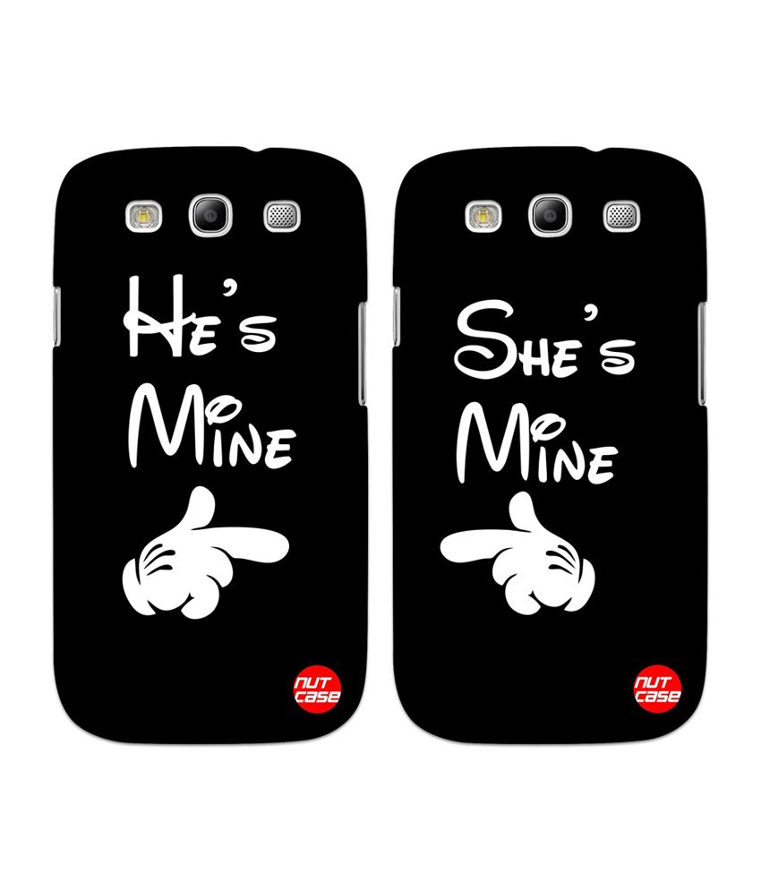 quality design 6baa1 17fc3 Nutcase Multicolour Couples Back Case Cover for Samsung Galaxy S4 Package -  He's Mine / She's Mine