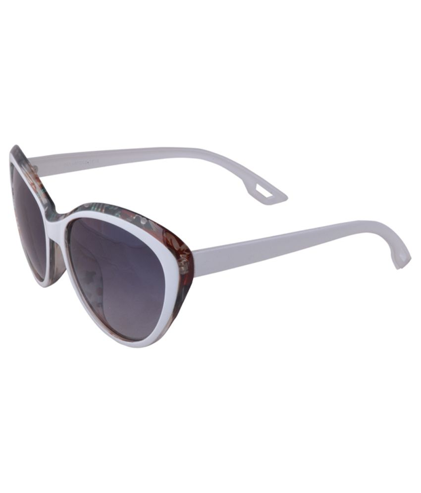 Snoozyshoppers White Non Metal Oval Sunglasses