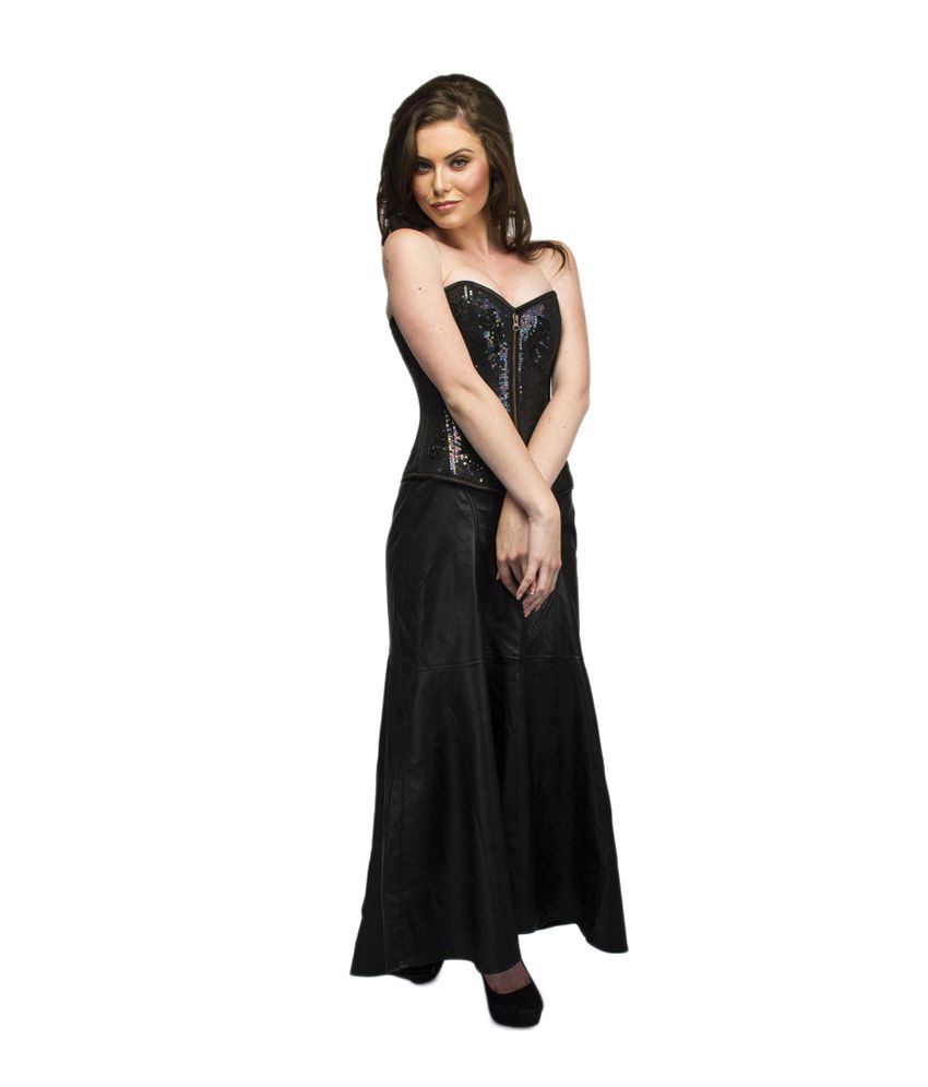 e790b9555 Corset Attire Black Party Wear Dress - Buy Corset Attire Black Party Wear  Dress Online at Best Prices in India on Snapdeal
