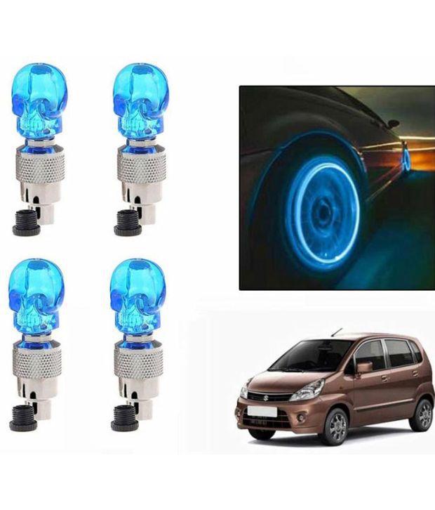 Spedy Blue Skull Car Tyre LED Motion Sensor Set Of 4