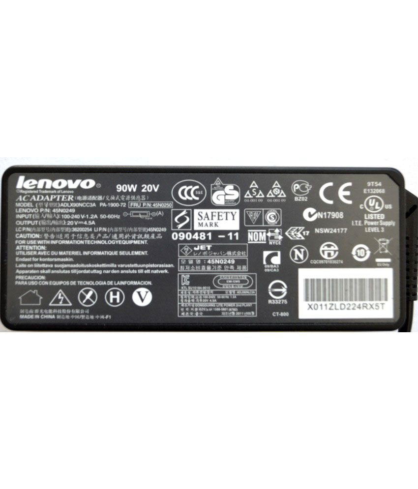 Lenovo ThinkPad 40Y7660 Original Box 90 Watt Laptop Adapter With Free Clean India Wooden Pen