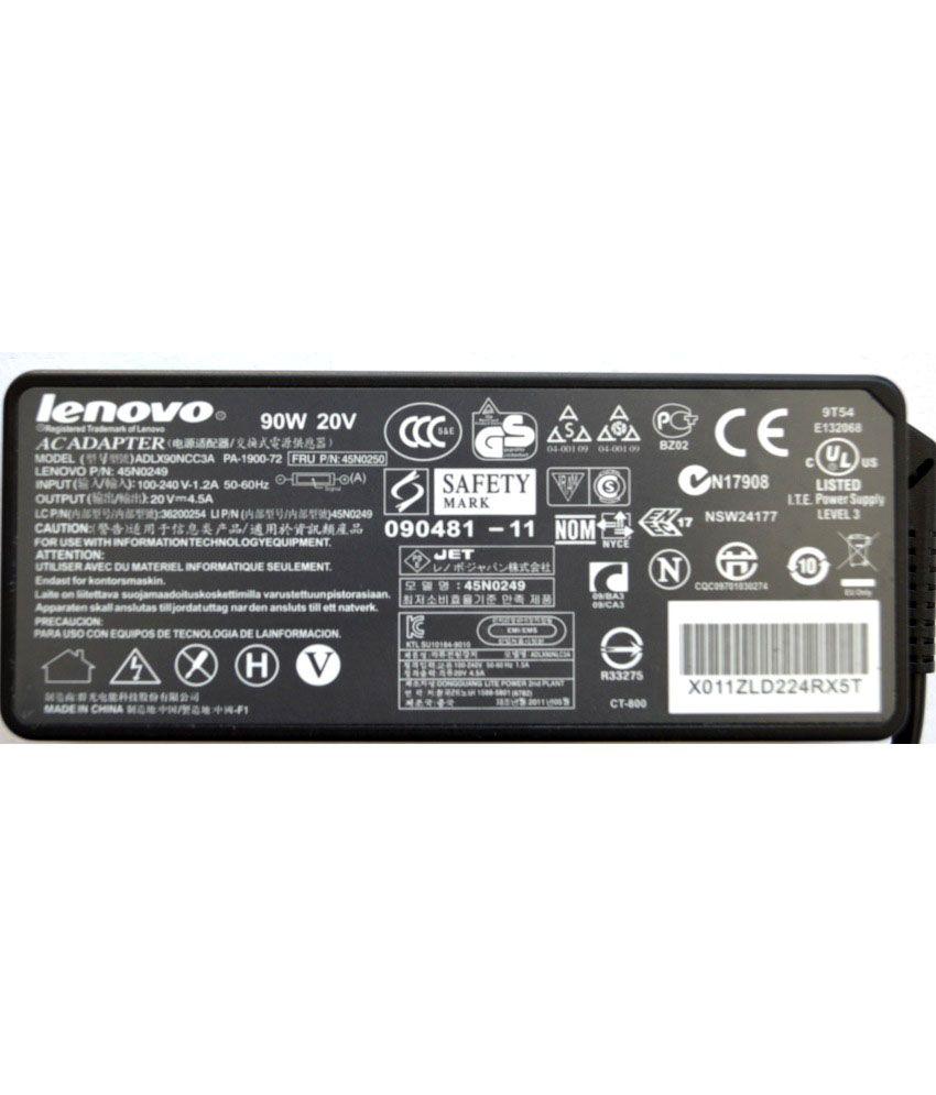 Lenovo ThinkPad SL300 Original Box 90 Watt Laptop Adapter With Free Clean India Wooden Pen