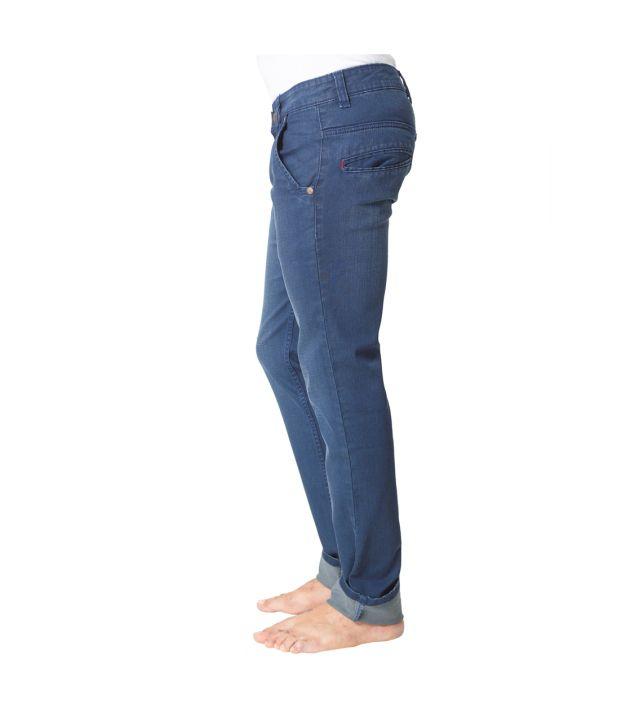 Klix Jeans Blue Cotton Jeans