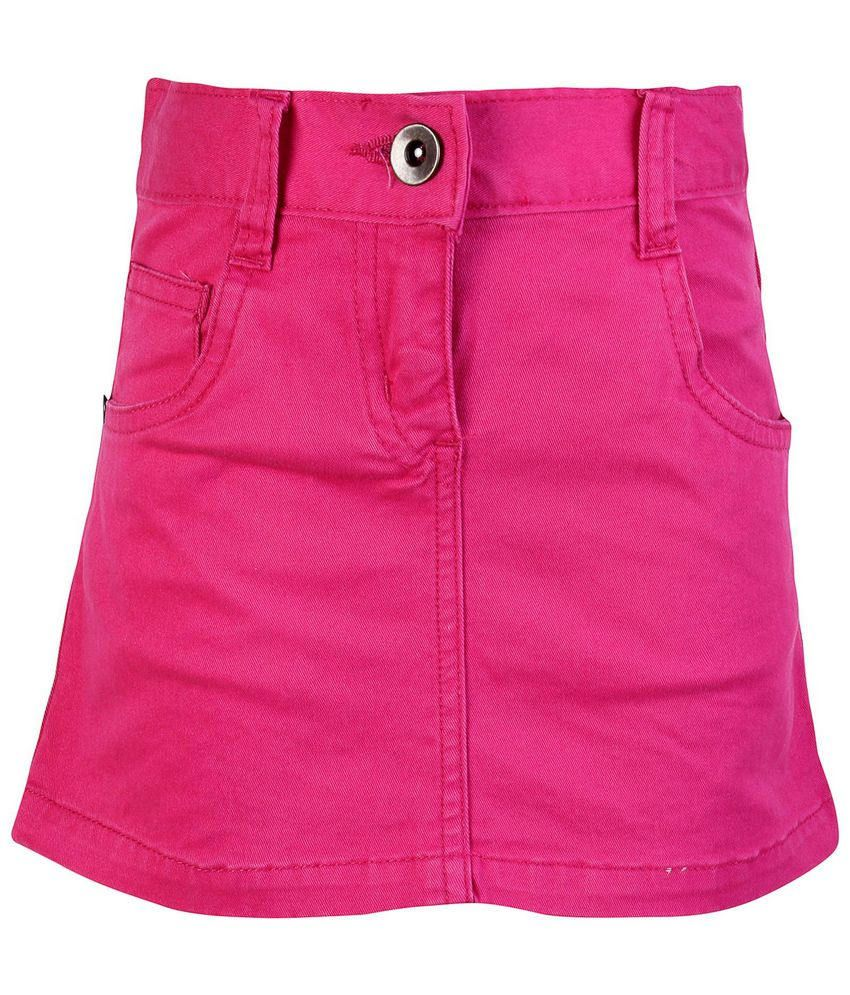 Dreamszone Pink Solids Skirts For Kids
