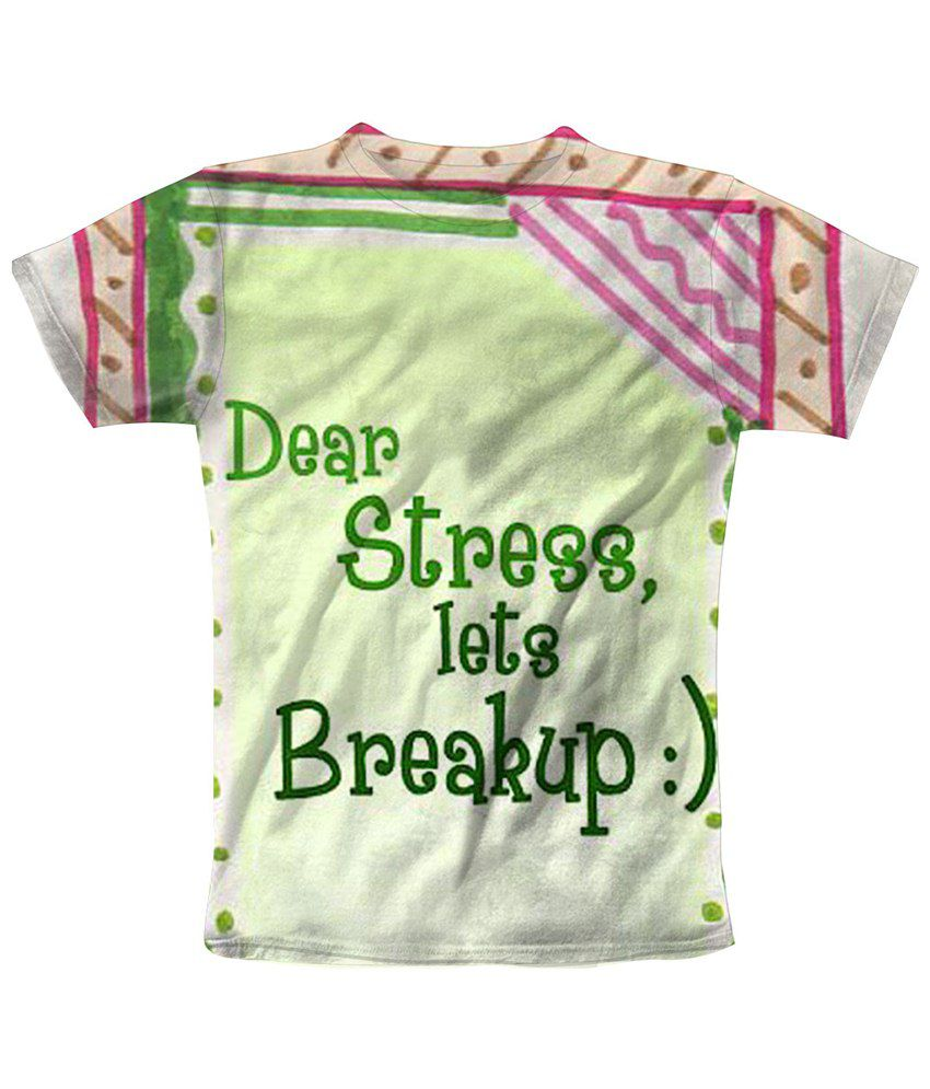 Freecultr Express Green Stress Breakup Printed T Shirt