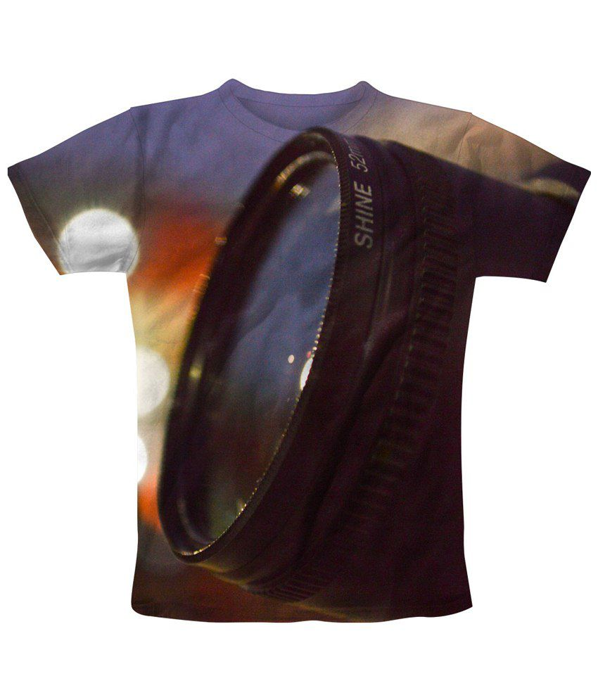Freecultr Express Multicolour Lens Printed T Shirt