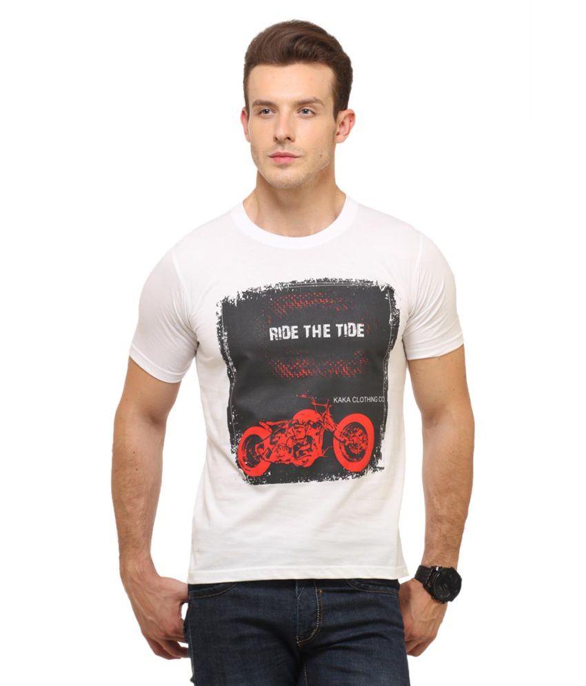 Polos White Cotton Round Neck T-Shirt