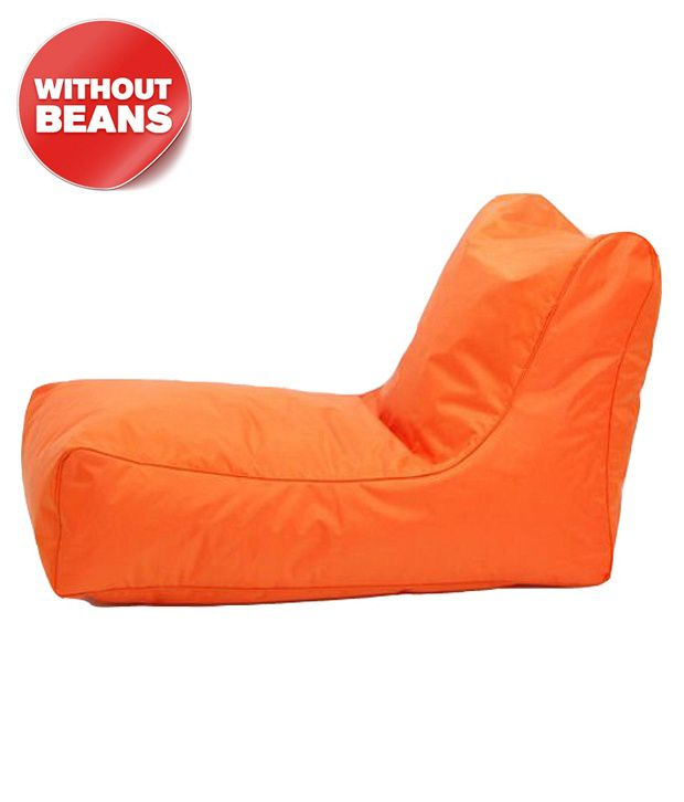 Repose Orange Lounger Bean Bag Cover Only Xl
