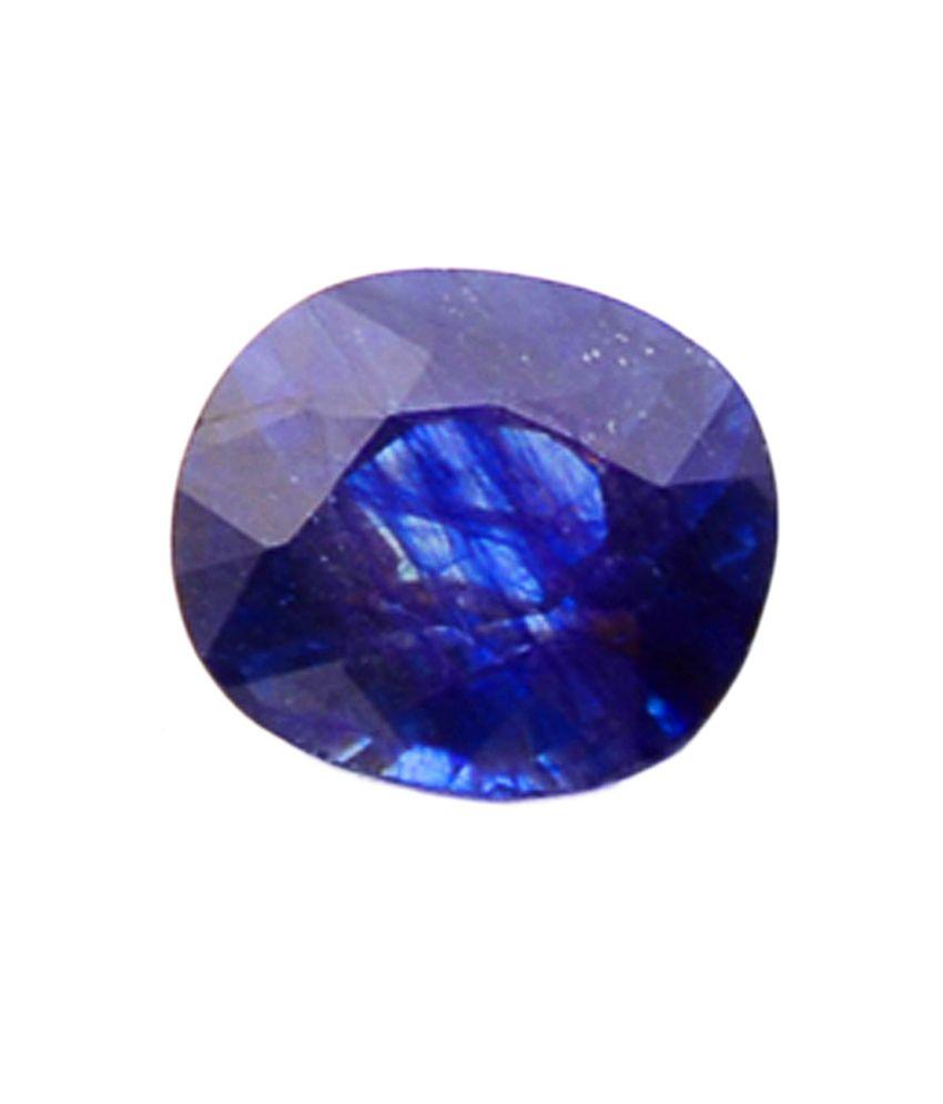 Shiva Rudraksha Ratna Natural Blue Sapphire - 6.49 Carat