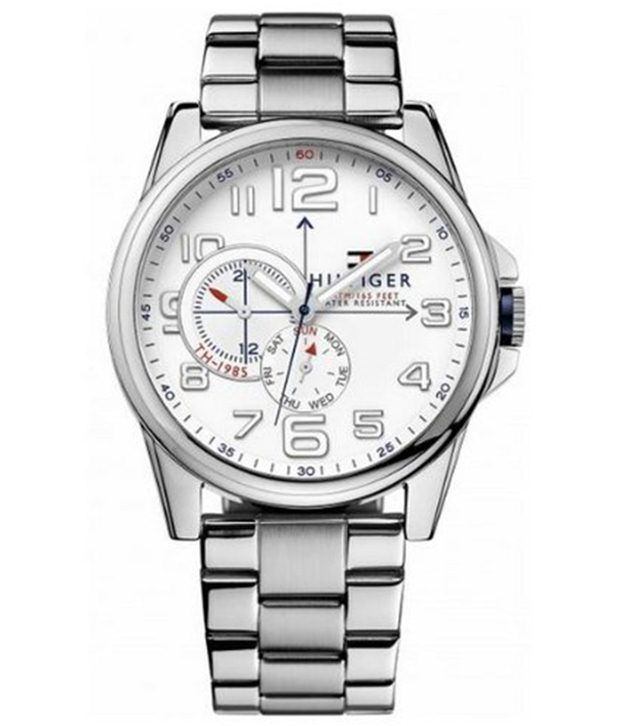 tommy hilfiger silver chain wrist watch for men buy. Black Bedroom Furniture Sets. Home Design Ideas