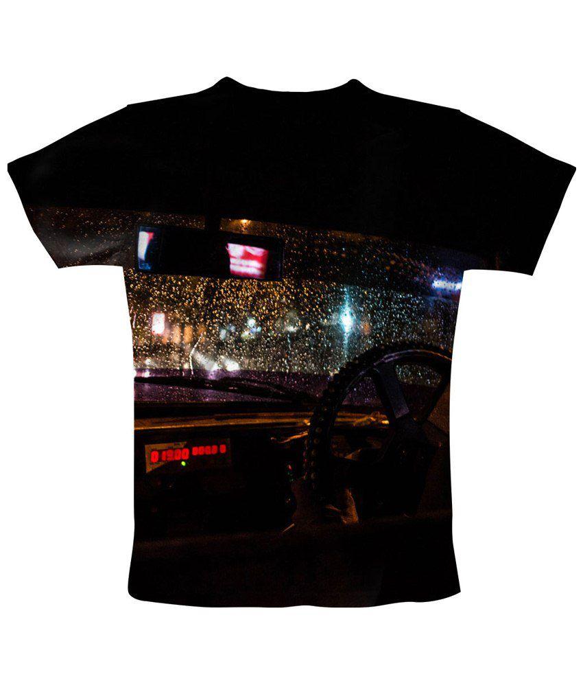 Freecultr Express Black Taxi Ride Printed T Shirt
