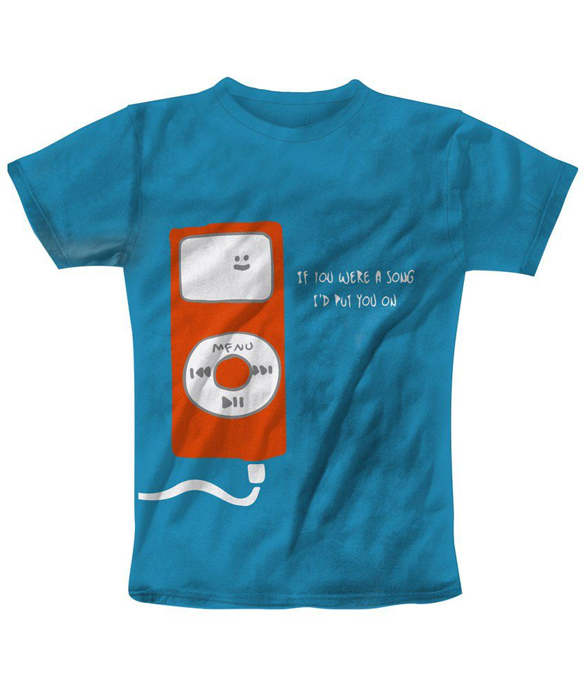 Freecultr Express Blue & Orange Put You On Printed T Shirt