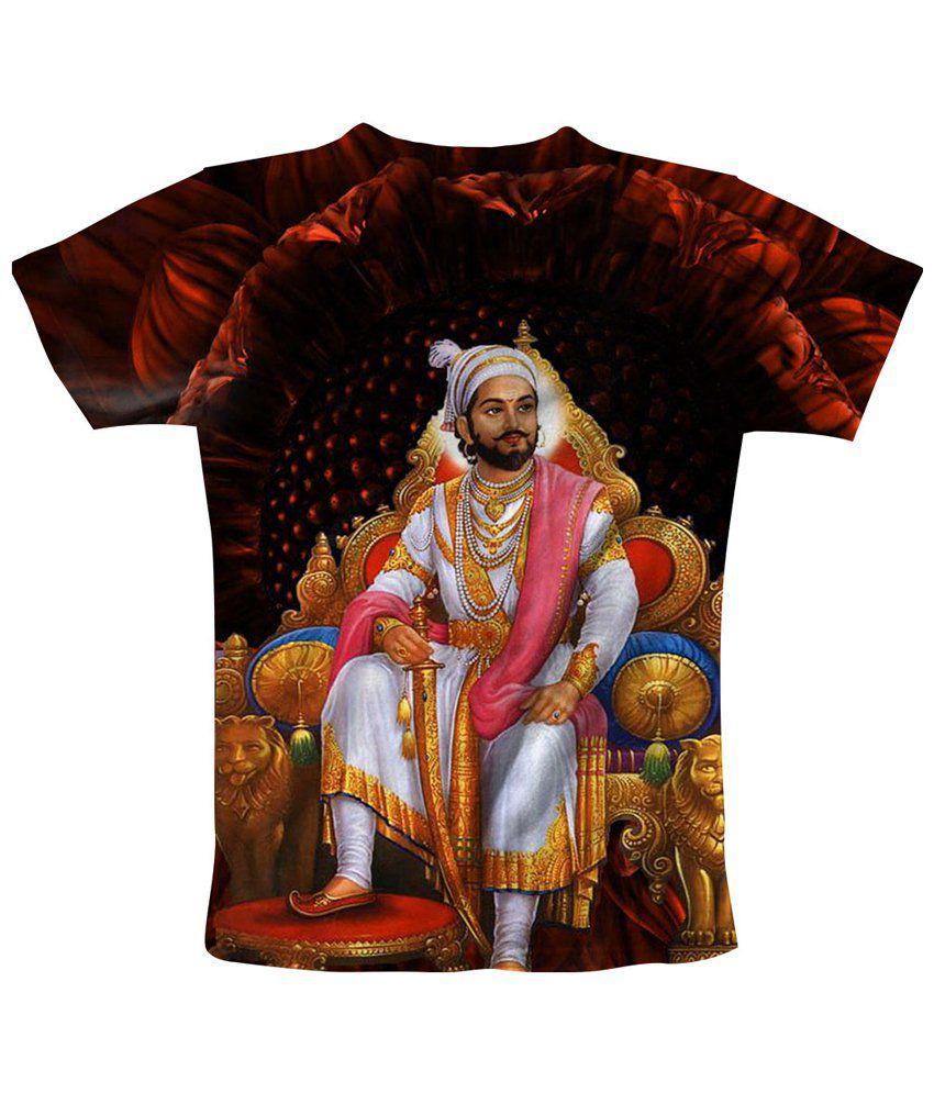 Freecultr Express Multicolour Shivaji Printed T Shirt