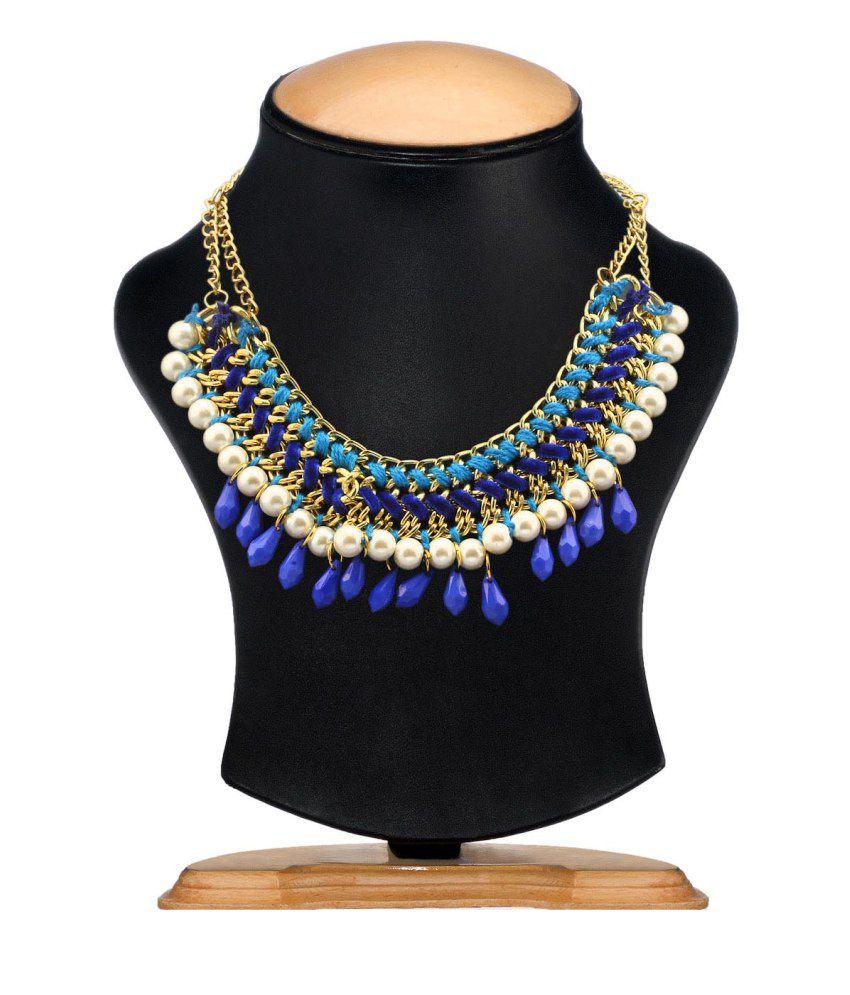 Kiosha Blue Alloy Necklace