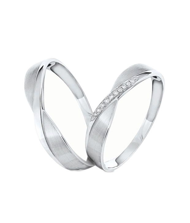 aa8172f09 Rm Jewellers 92.5 Pure Silver American Diamond Best Lovely Stylish Couple  Ring: Buy Rm Jewellers 92.5 Pure Silver American Diamond Best Lovely Stylish  ...