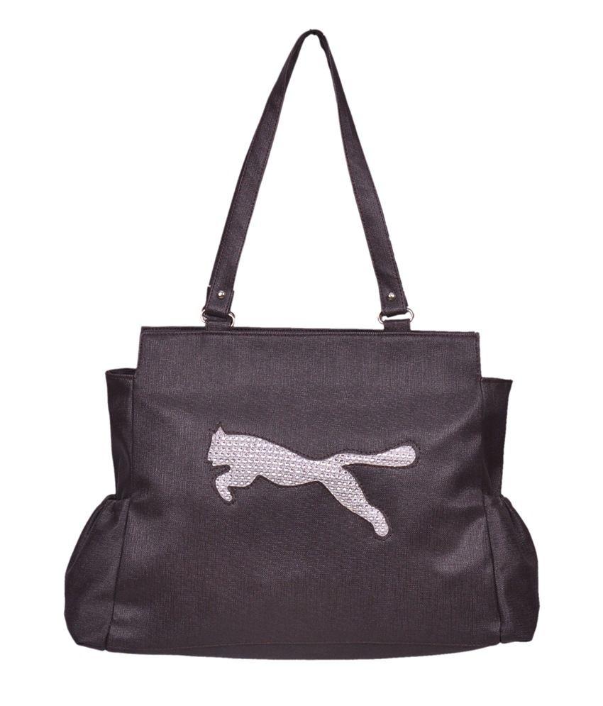 Speed Dot Brown Shoulder Bag