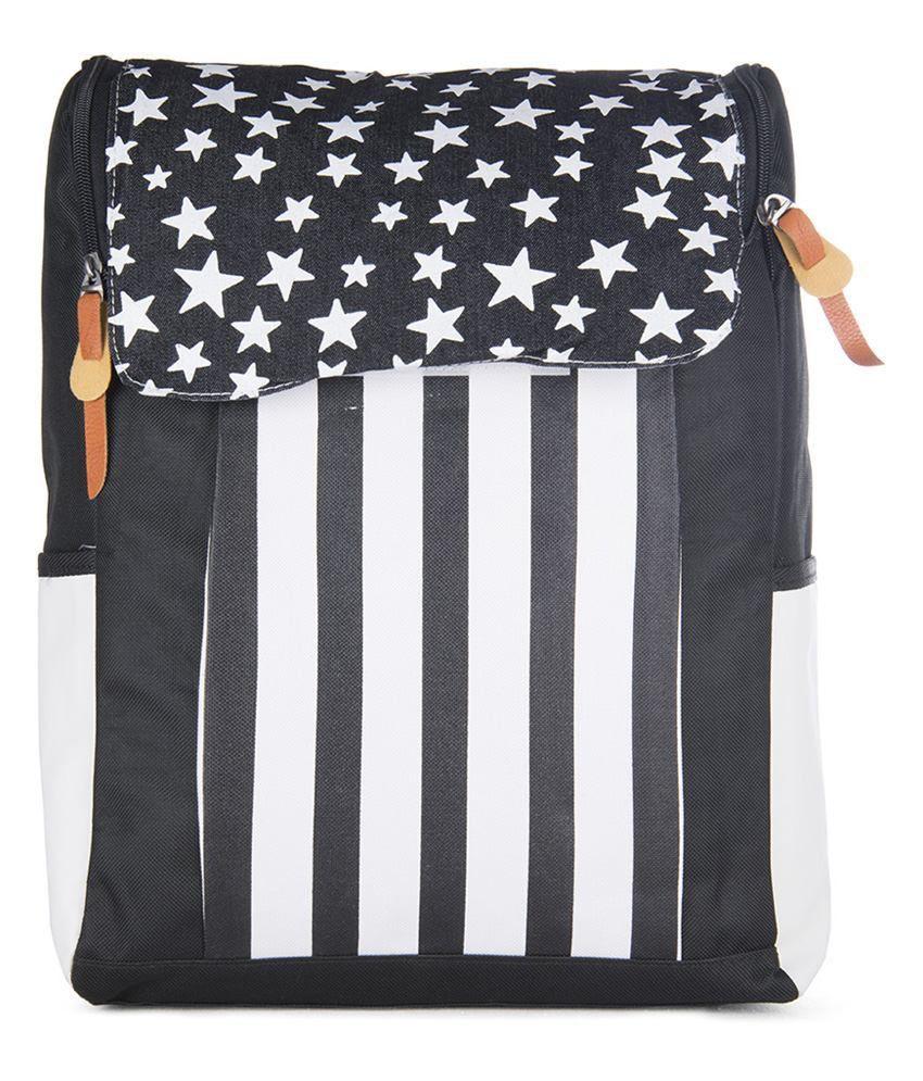 Carry On Handbags Black Canvas Backpacks