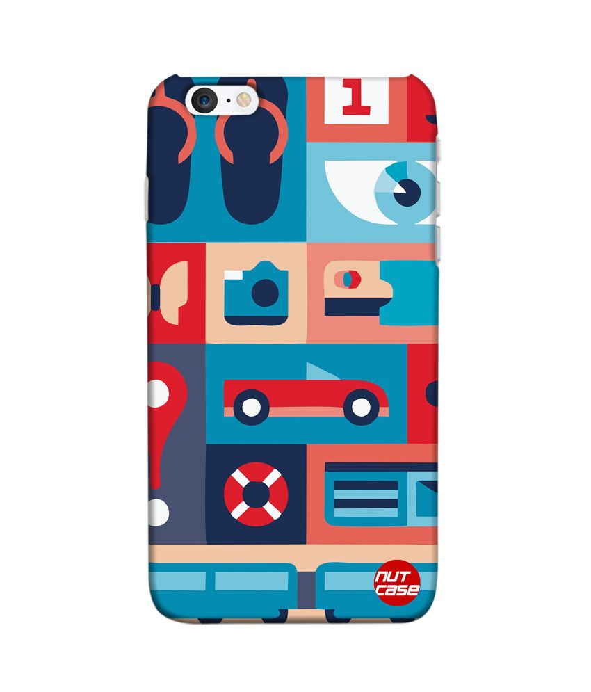Nutcase Retro Elements ( Nautica ) Apple iPhone 6 Plus Back Cover - Multicolor