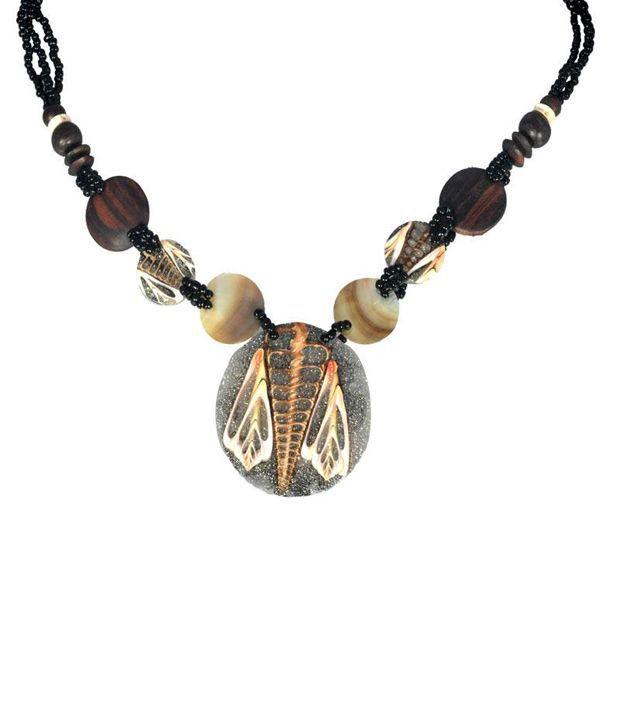 Swanvi Multicolour Contemporary Alloy Antique Dailywear Shell Shine Necklace