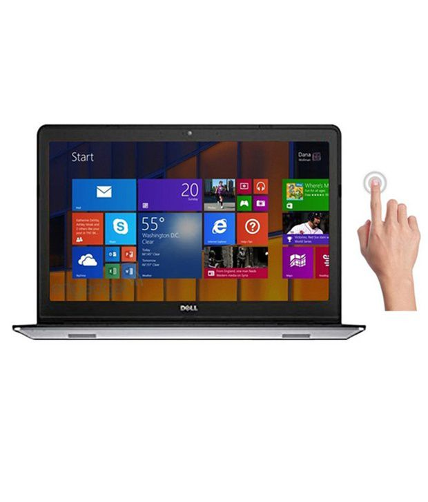 Dell Inspiron 15 5547 Touchscreen Notebook (4th Gen Intel Core i7- 8GB RAM- 1TB HDD- 39.62cm (15.6) Touch- Win8.1) (Silver)