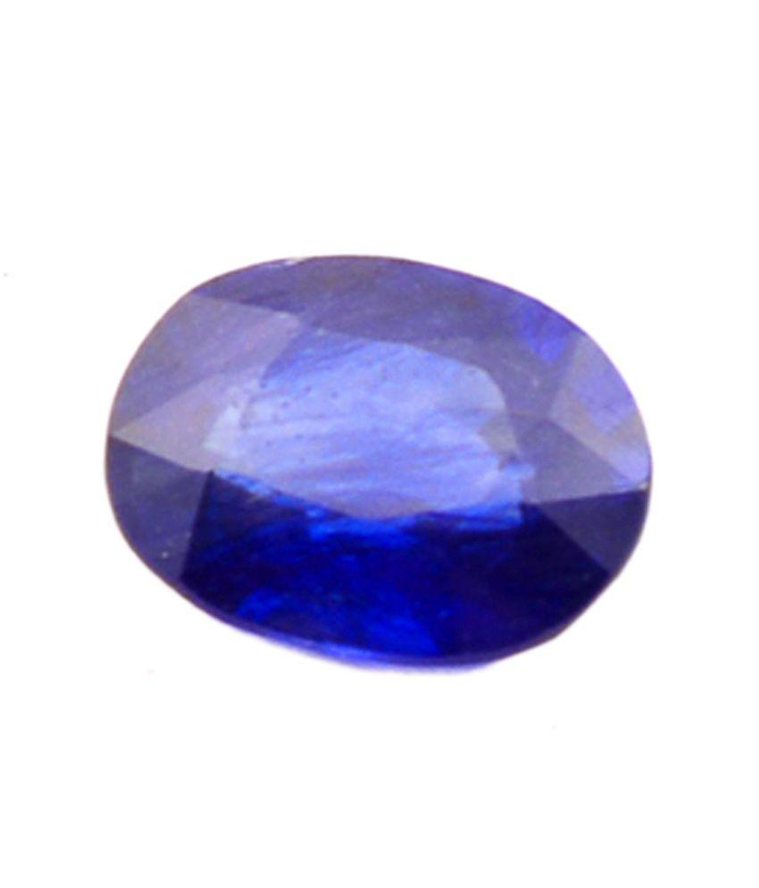 Shiva Rudraksha Ratna Natural Blue Sapphire - 3.88 Carat