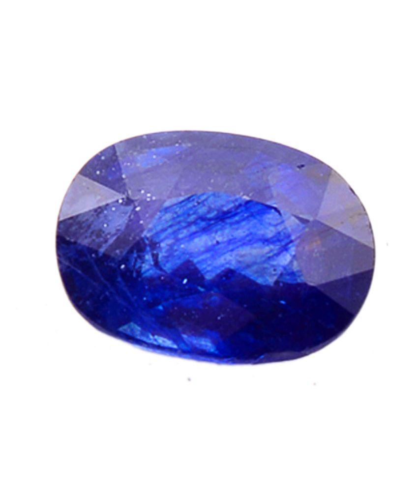 Shiva Rudraksha Ratna Natural Blue Sapphire - 5.52 Carat