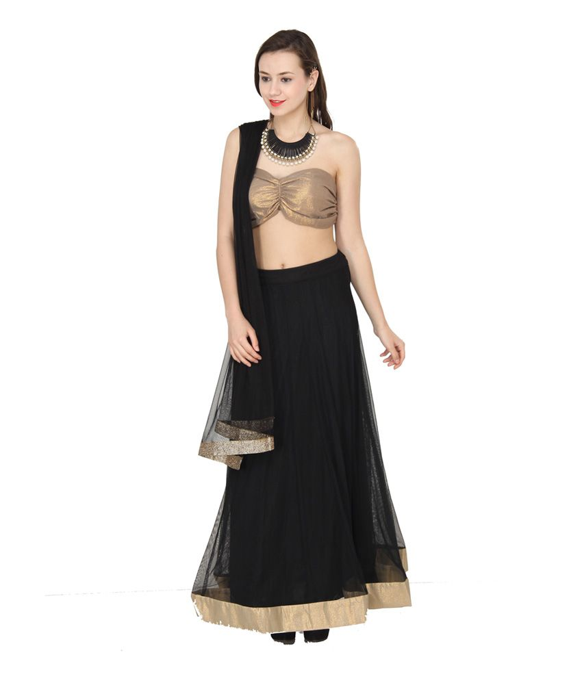 6548a2a3bea2d8 Western Route Black Net Plain Semi Stitched Lehenga - Buy Western Route  Black Net Plain Semi Stitched Lehenga Online at Best Prices in India on  Snapdeal