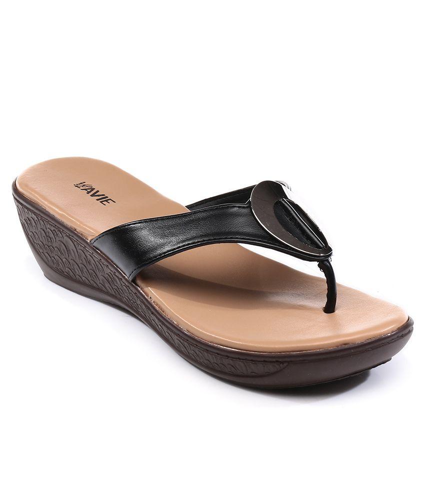 Lavie Black Sandals