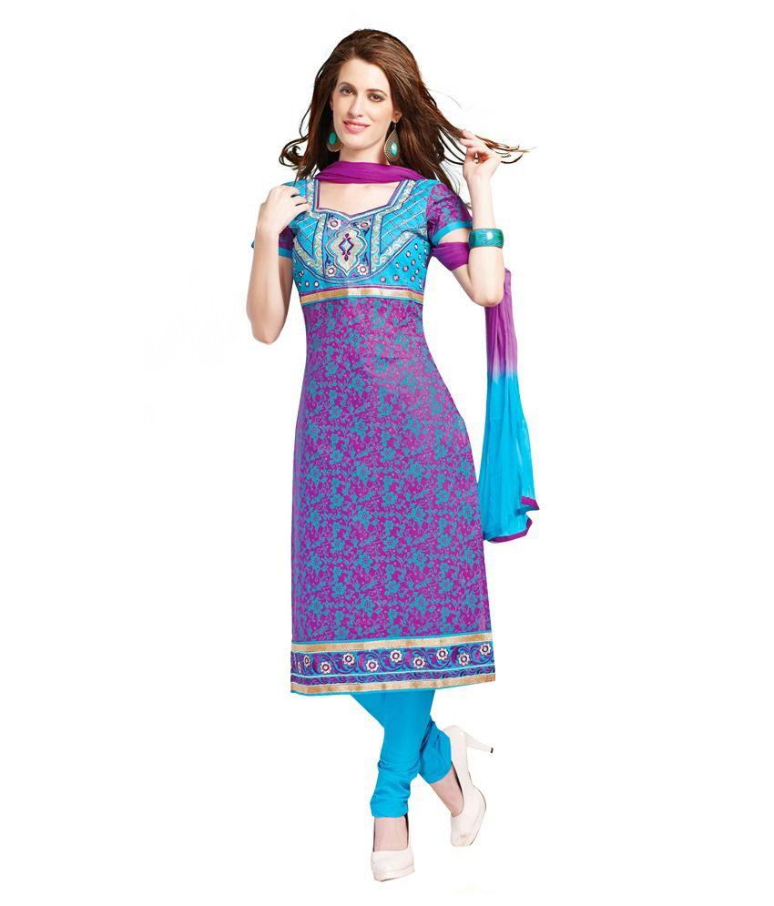 Princess Fashion Multi Color Cotton Unstitched Dress Material