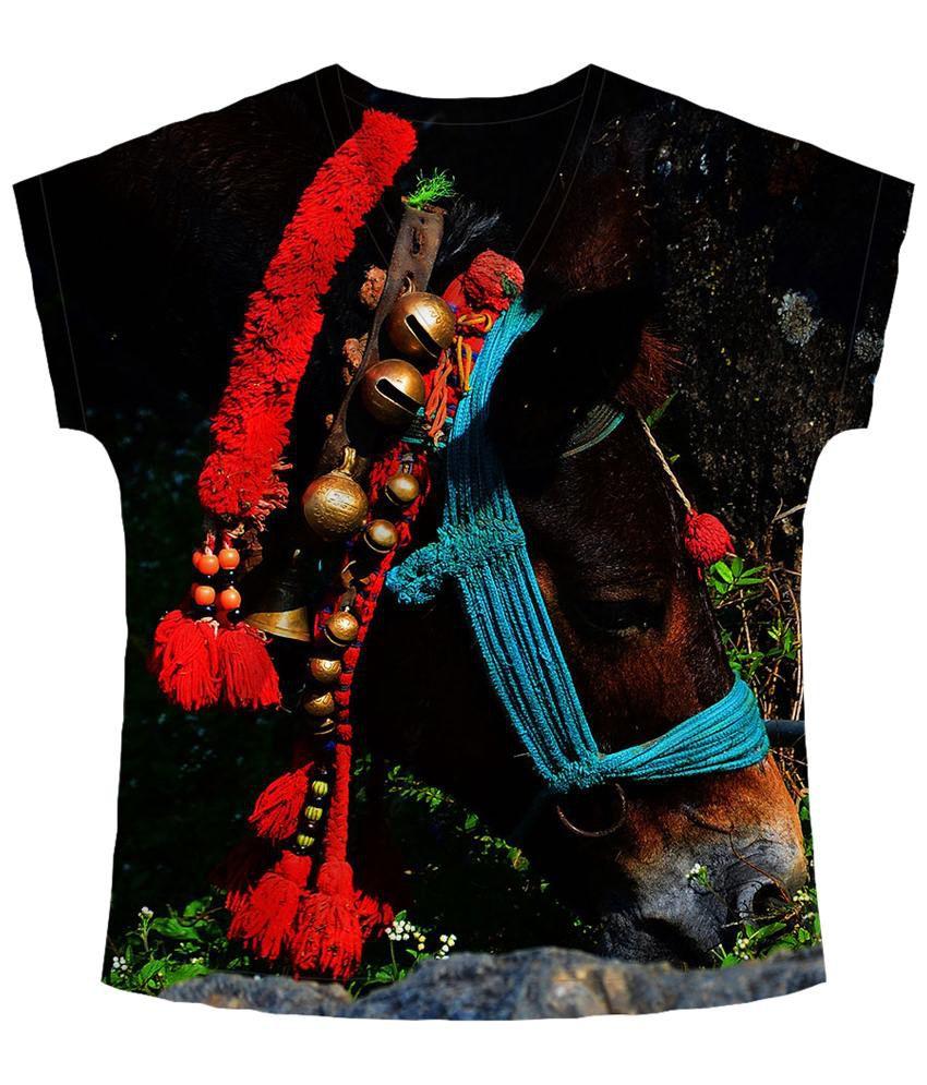 Freecultr Express Multicolour Delve V Neck Printed T Shirt