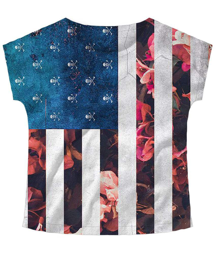Freecultr Express Multicolour Prints Boat Neck Printed T Shirt
