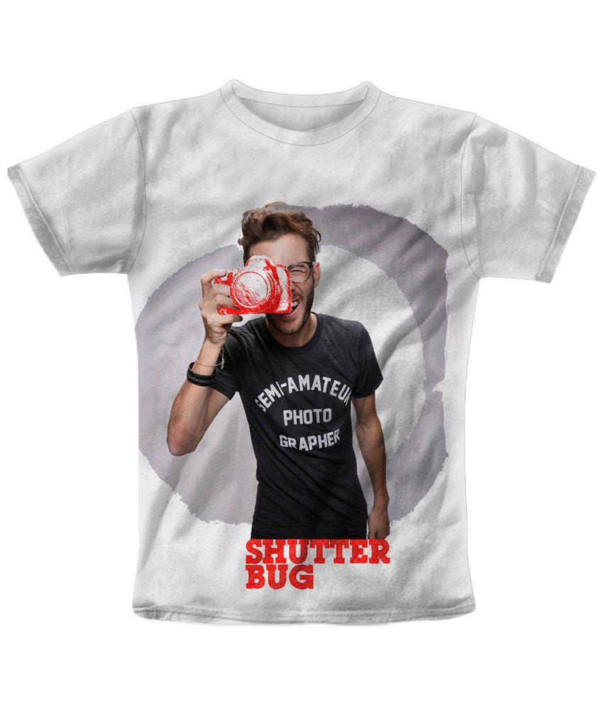 Freecultr Express White & Black Shutter Bag Red Printed T Shirt