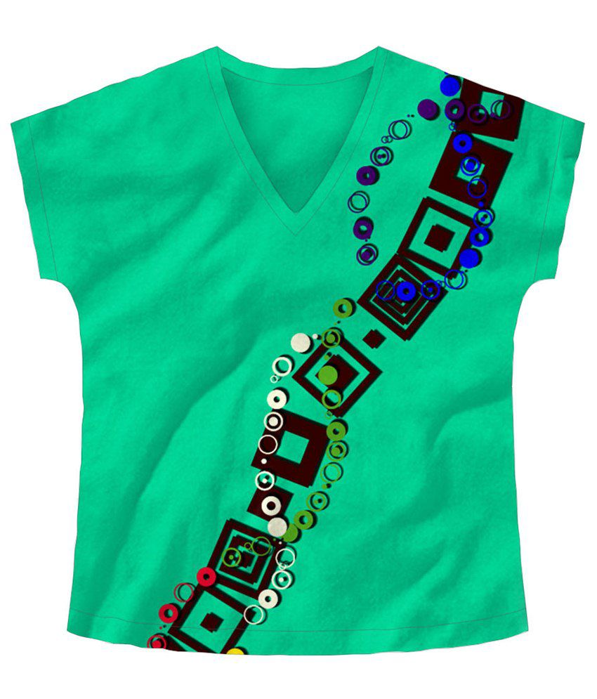 Freecultr Express Winding Green & Brown Graphic T Shirt