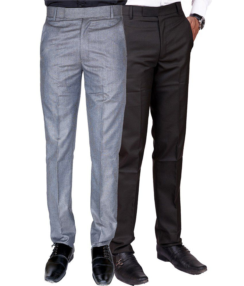 Pazel Poly Viscose Formal Trousers