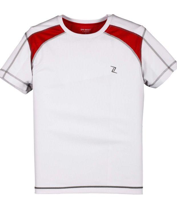 Zobello Multicolour Polyester Fitness T Shirt
