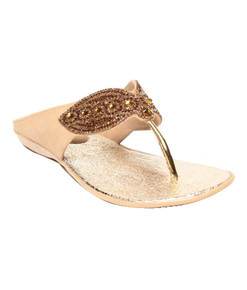 Anand Archies Classy Beige Flat Slip-ons