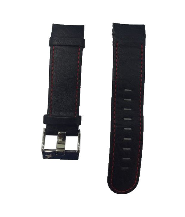 5faacb7a7dfc Fastrack 3029SL03 Black Leather Watch Strap Fastrack 3029SL03 Black Leather  Watch Strap
