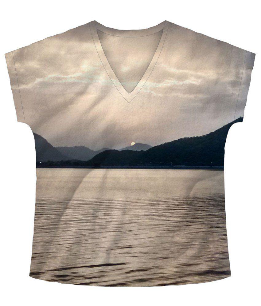 Freecultr Express White & Black Sun Peak Half Sleeve T Shirt