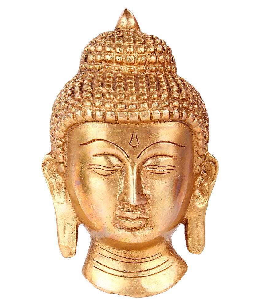 Tribes India Gold Brass Handicraft Showpiece - Pack of 1