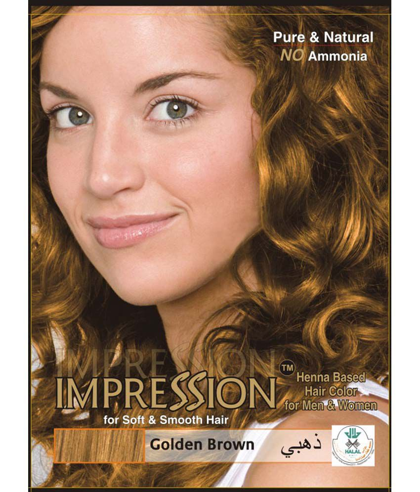 Impression Henna Based Hair Colour Golden Brown 300g Buy