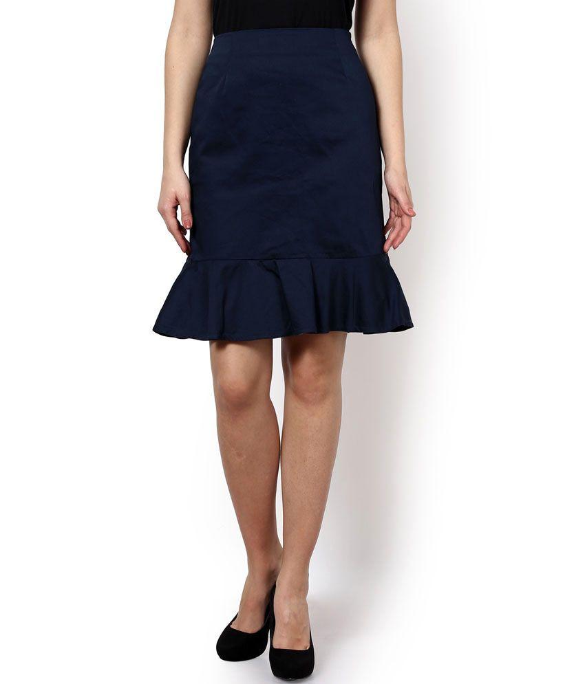 buy kaaryah blue formal peplum skirt at best prices