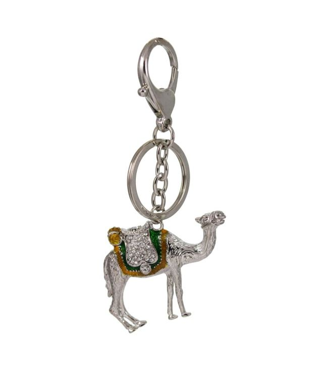 Tootpado Camel - Silver - Stylish Stone Metal Keychain Key Ring Chain