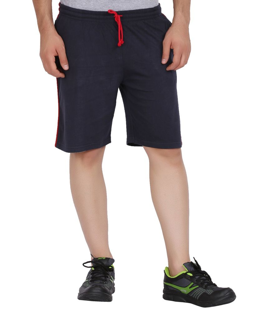 Checkersbay Sn105 Mens Dark Blue Sports Shorts