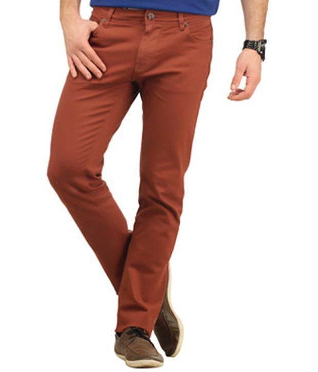 Integriti Brown Cotton Basics Light Ki-3574-str Jeans For Men