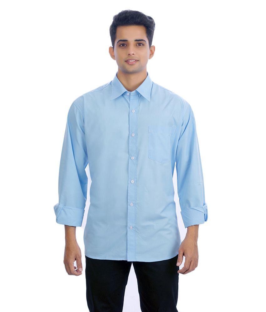 Unique for men blue cotton blend casuals shirt buy for Unusual shirts for men