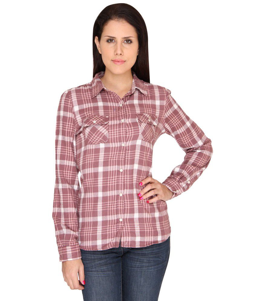 buy bedazzle brown cotton shirts online at best prices in