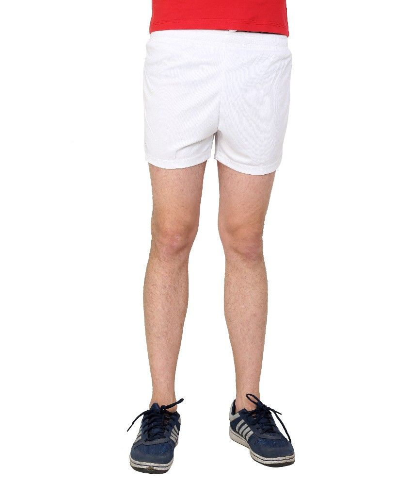 Dida  White Polyester Shorts