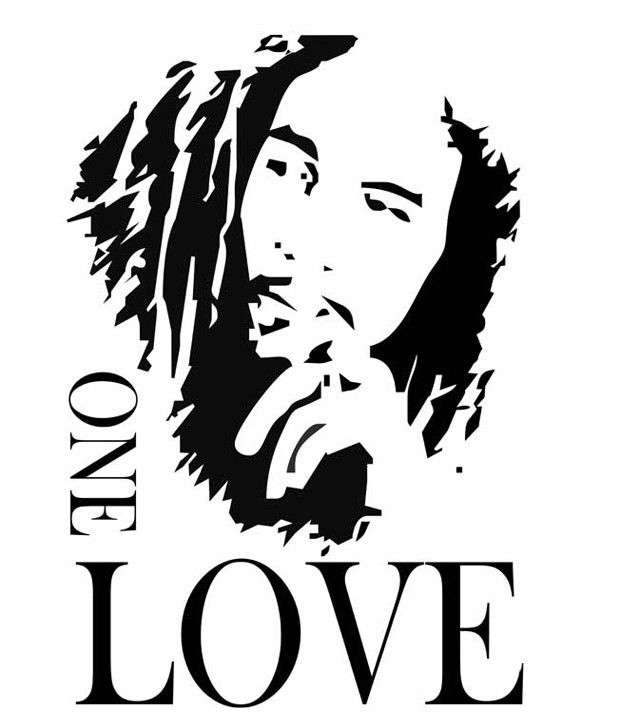 Studio Briana Black Bob Marley Iconic Sketch Wall Decal On