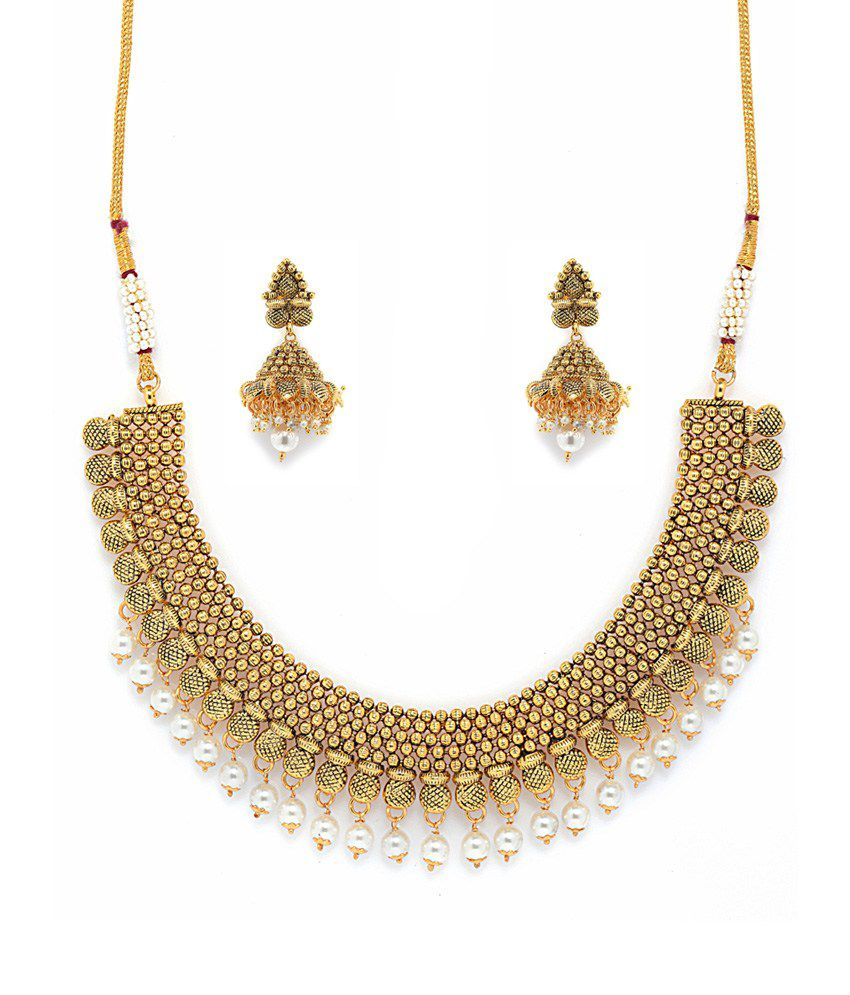 Alankruthi Gold Plated Traditional Wedding & Engagement Wear Necklace Set